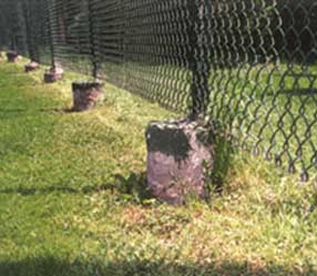 Concreted posts heaving