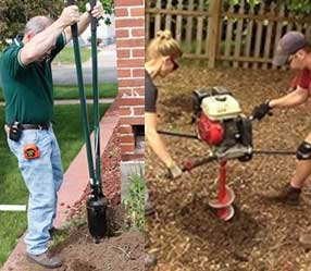 Digging posts by hand